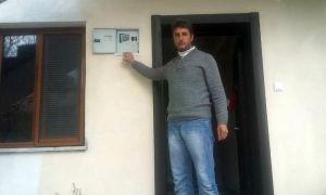 Sason'da bir eve yıldırım isabet etti