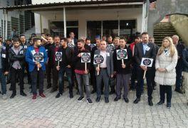 Sason'da öğretmenler, meslektaşlarının öldürülmesine tepki gösterdi