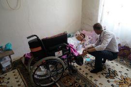 Kangren sonucu bacağı kesilmişti, tekerlekli sandalyeye kavuştu