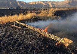 Anız yangını 10 köyü enerjisiz bıraktı