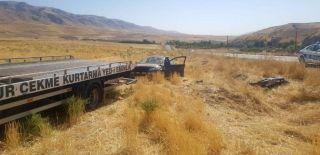 Kontrolden çıkan araç takla attı: 7 yaralı