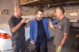 AK Parti Batman İl Başkanı Gür sanayi sitesi esnafını ziyaret etti