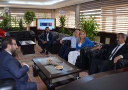 Başkan Gür'den Batman Emniyet Müdürü Kıraç'a nezaket ziyareti