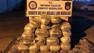 Batman'da 135 kilogram esrar ele geçirildi