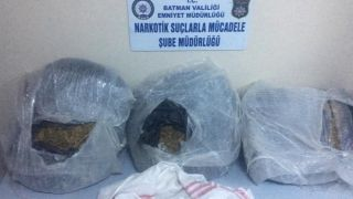 Batman'da 27 kilo 500 gram uyuşturucu madde ele geçirildi
