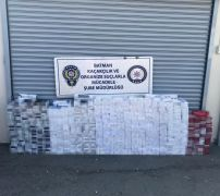 Batman'da 8 bin 250 paket kaçak sigara ele geçirildi
