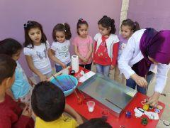 Sason'da minik öğrenciler ebru sanatı ile tanıştı