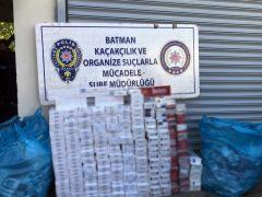 Batman'da 4 bin 400 paket kaçak sigara ele geçirildi