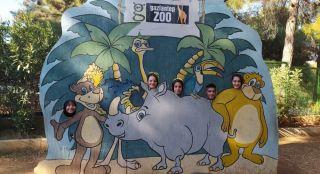 Anadolu Lisesi öğrencileri hayvanat bahçesini gezdi