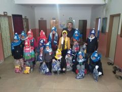 Gercüş'te çocuklara giysi yardımı
