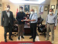 Rektör Durmuş, Yedihilal Derneği Başkanı ile projeleri değerlendirdi