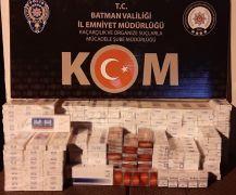 Batman'da 2 bin 300 paket kaçak sigara ele geçirildi