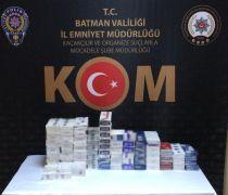 Batman'da bin 220 paket gümrük kaçağı sigara ele geçirildi