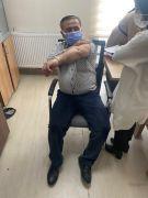 MHP Gercüş İlçe Başkanı Keskin, korona virüs aşısı oldu