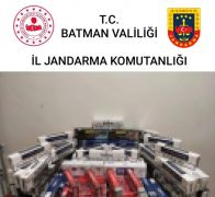 Batman'da 4 bin 500 paket kaçak sigara ele geçirildi