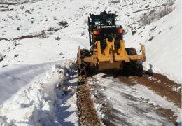 Batman'da kar nedeni ile kapanan köy yolları açılıyor