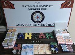 Batman'da kıraathaneye kumar baskını