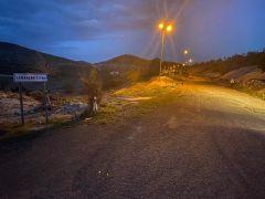 Gercüş'te köy yolu aydınlandı